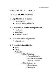 TEMA4 LA POBLACIÓN MUNDIAL