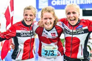 Le bionde danesi sorridenti