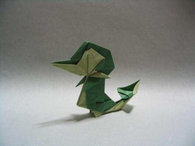 Origami Snivy