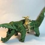 Origami Crocodile and Hare