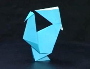 にわとりの折り紙