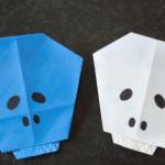 ハロウィンガイコツの折り紙