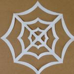 クモの巣の折り紙