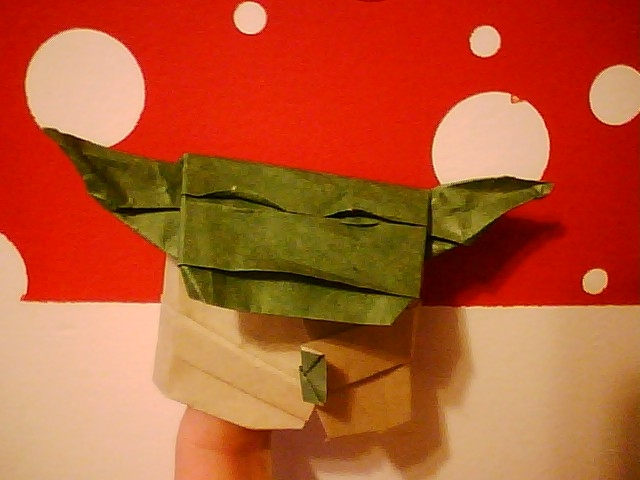 Finally! Instructions for folding an Origami Yoda like the one on the cover! (1/6)