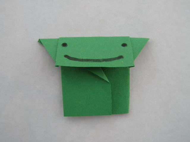 For Star Wars Day: World's Easiest Origami Yoda Finger Puppet- only 5 folds (6/6)