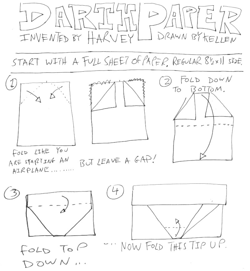 Origami Yoda II: Darth Paper Strikes Back! Folding Instructions + Contest! #starwars (2/4)