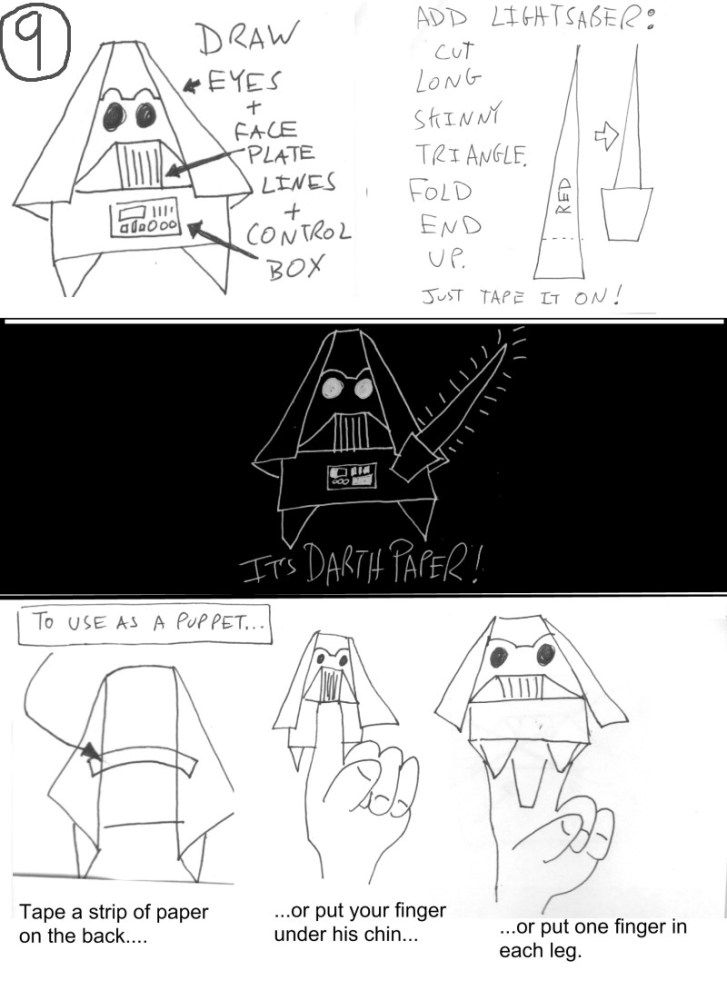 Origami Yoda II: Darth Paper Strikes Back! Folding Instructions + Contest! #starwars (4/4)