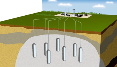 salt dome gas storage illustration.