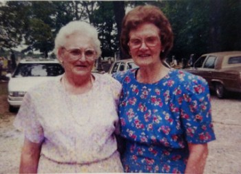 Carlene McGraw Griffin with her aunt Charlene Wallace at Holly Springs