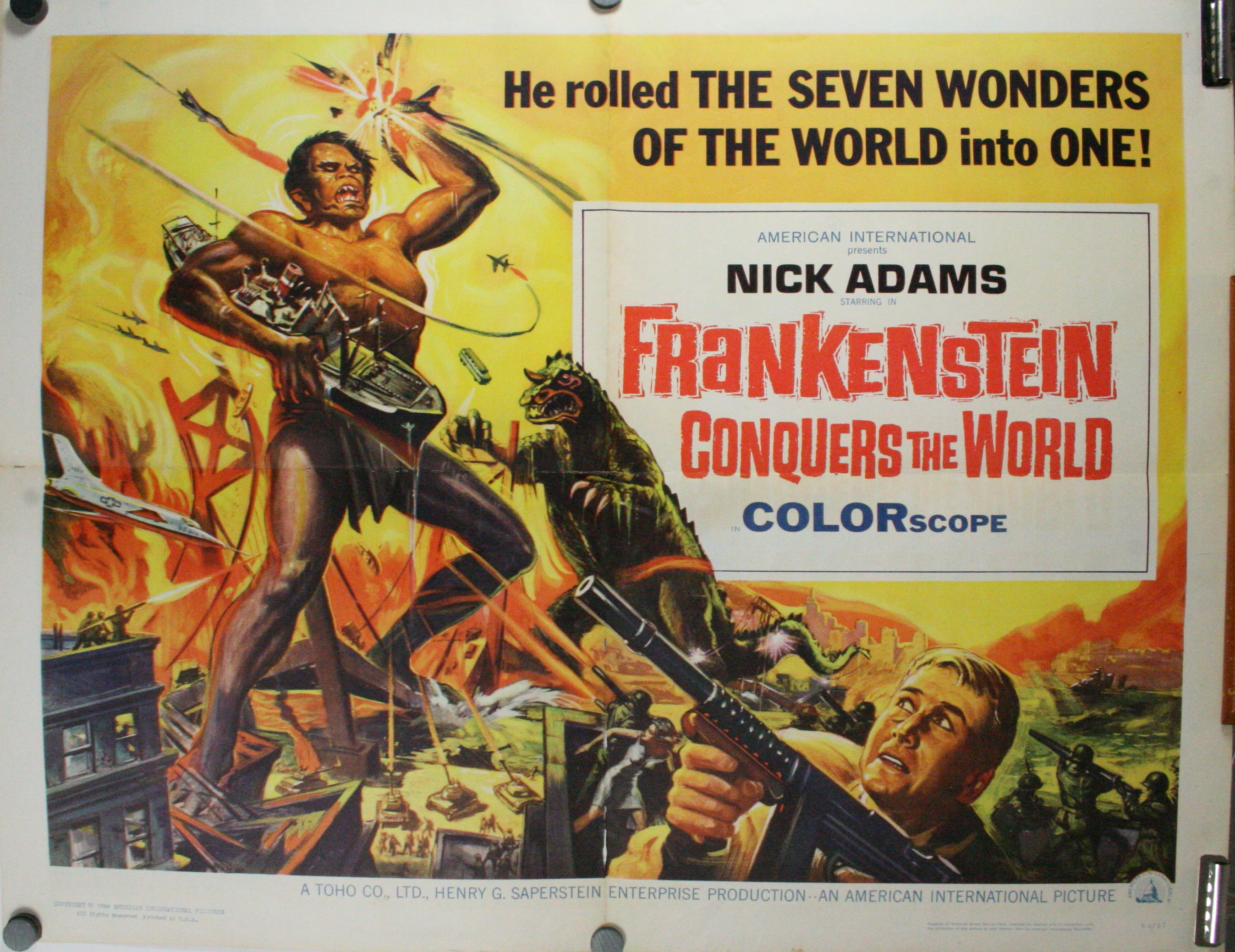 Poster do filme Frankenstein Conquers the World