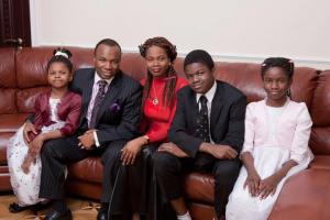 Pastor Adelaja with his wife and children