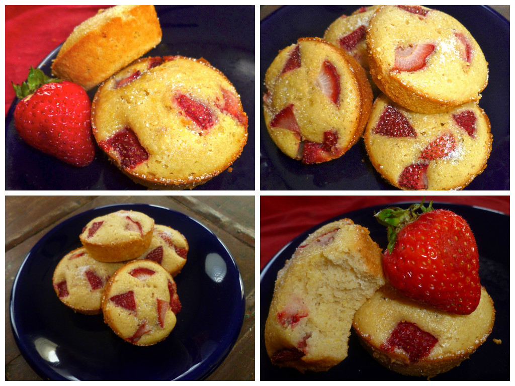 strawberrycornmealmuffins