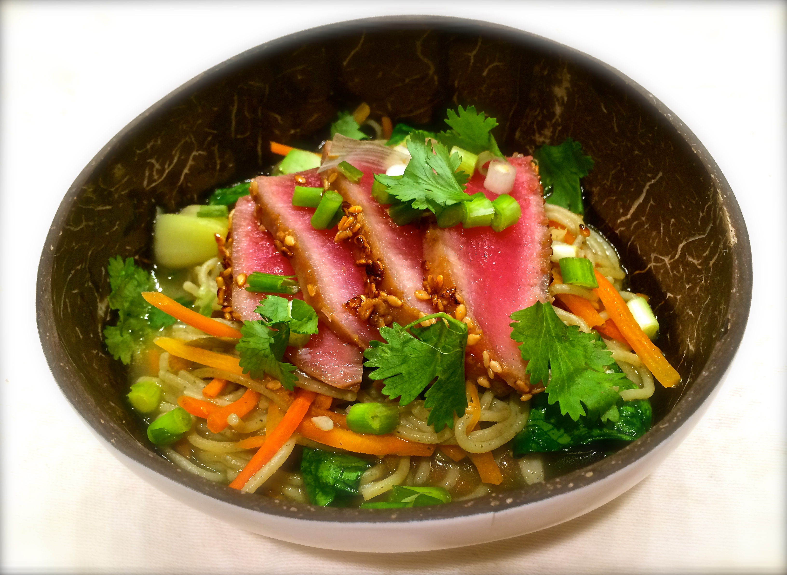 easy ahi tuna ramen bowl