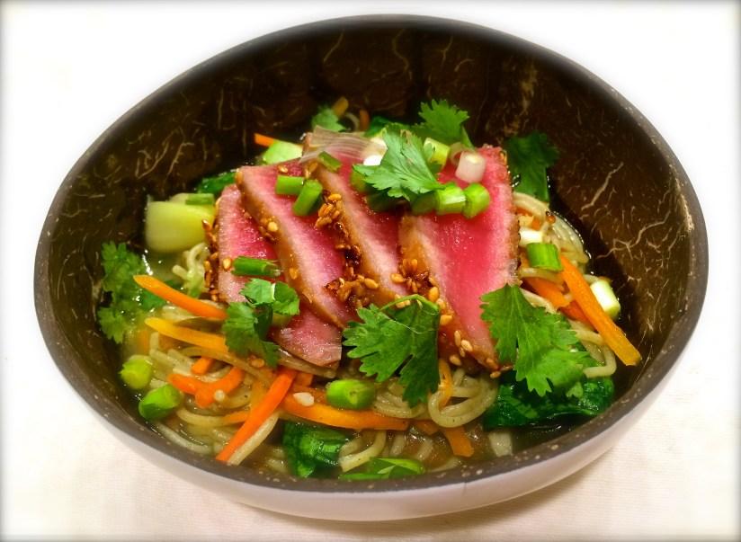 easy ahi tuna ramen bowl