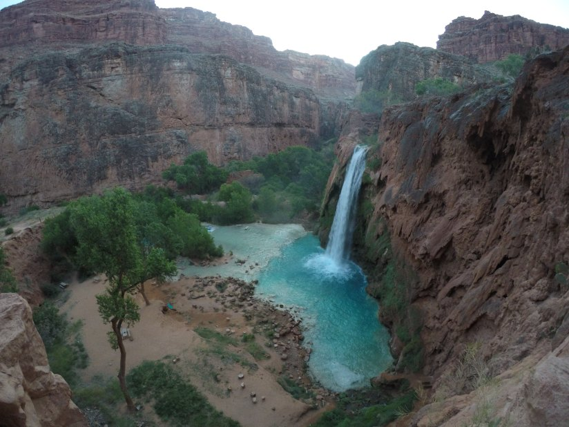 Waterfalls in the grand canyon