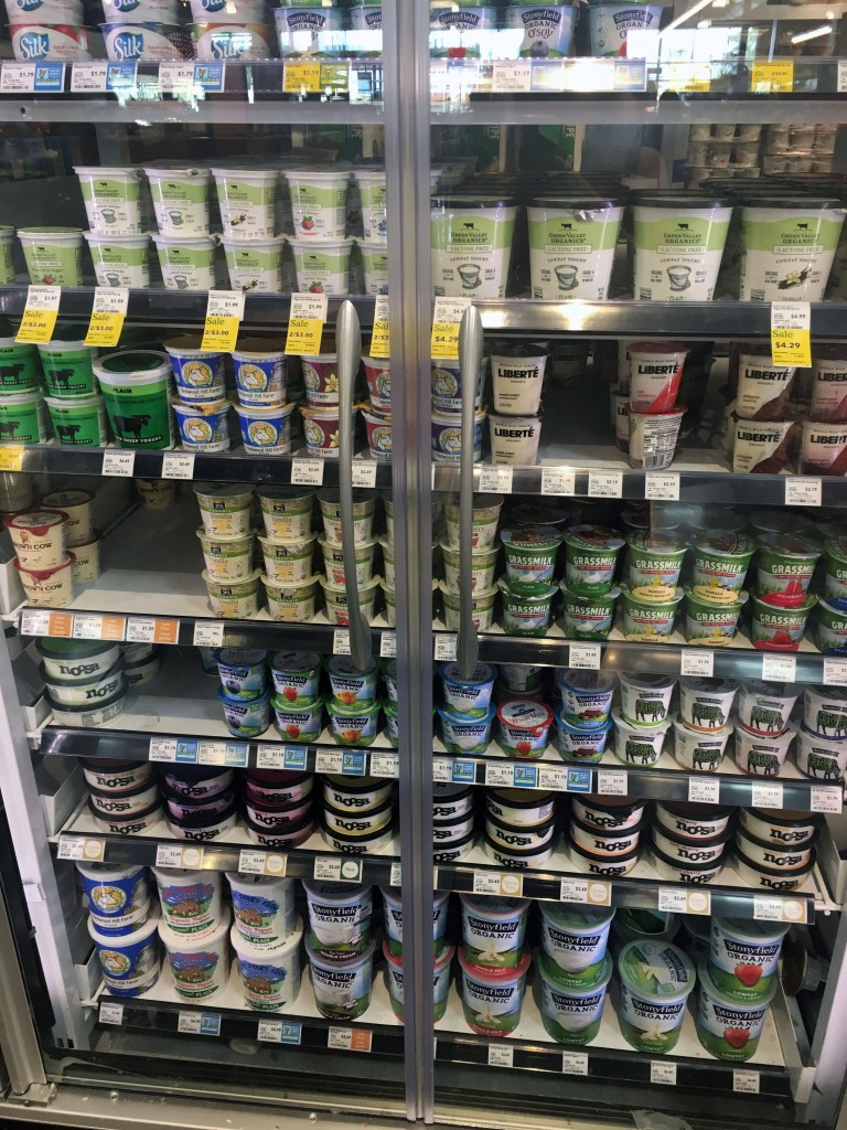 yogurt display