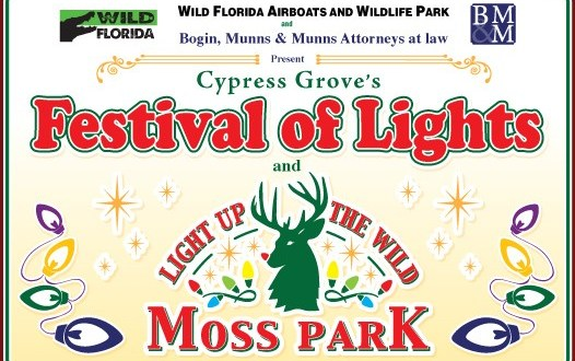 Light Up the Wild at Moss Park:  December 18 – 23
