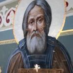 Cruce apărută în mod minunat pe o frescă a Sfântului Serghie de Radonej