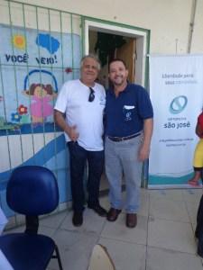 Nosso querido e sempre amigo Dr. Luiz Elpídio, Médico Endocrinologista com o Ortesista/Protesista Manoel Luiz.
