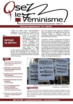 Journal 21 d'Osez le féminisme !