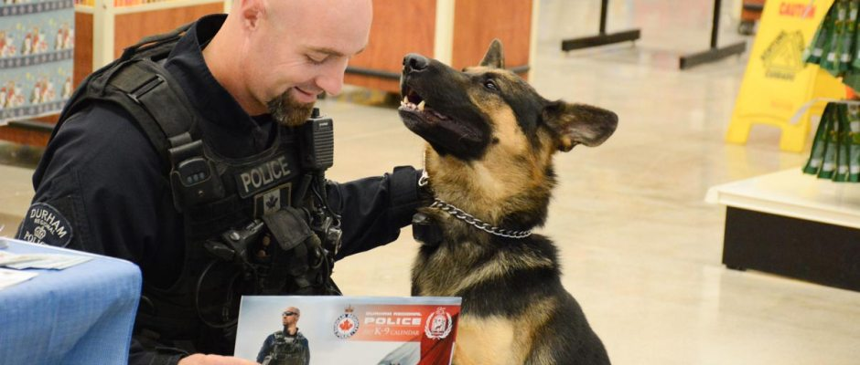 Det. Const. Jason Dickson and PSD Brock are among those featured in the new DRPS K-9 calendar. Proceeds from the calendar's sale will go toward various charities.