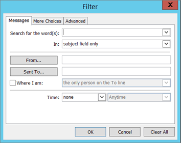 Choose Filter if you want to import only certain emails.