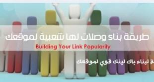 """بناء وصلة """" باك لينكس """" لها شعبية لموقعك Building Your Link Popularity"""