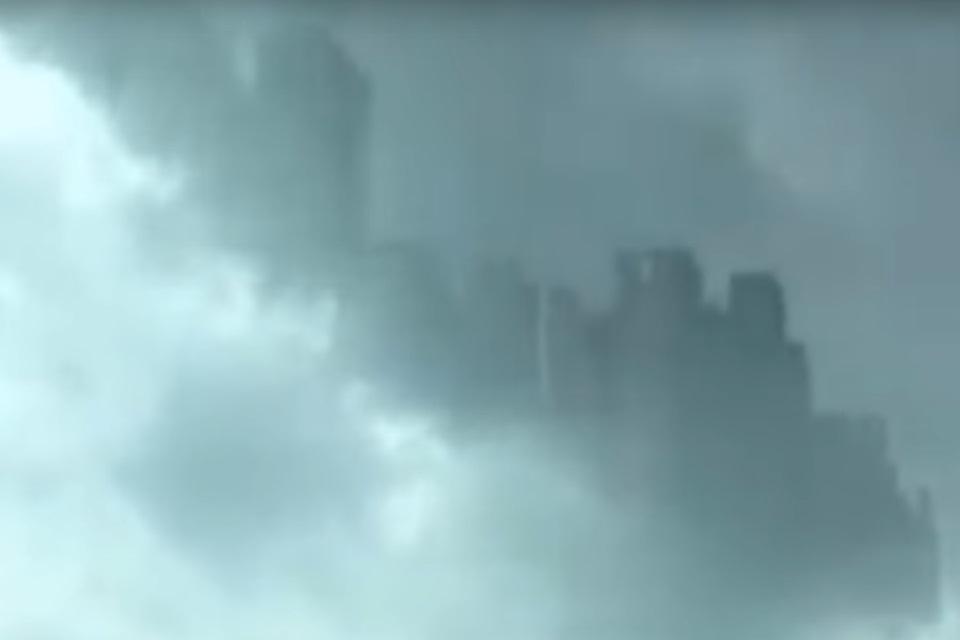 """O aparecimento, no céu, de uma """"cidade flutuante"""""""