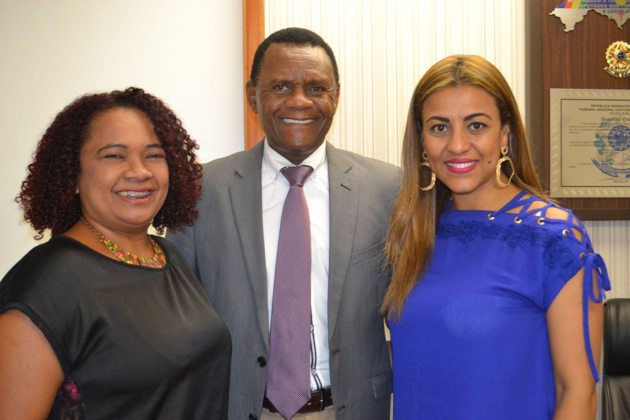 Ossesio recebe Duda Rodrigues em seu gabinete