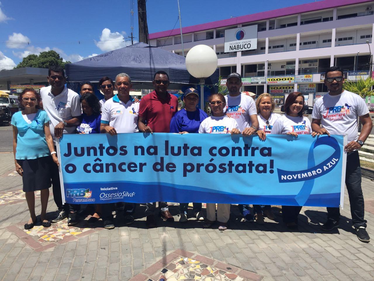 Ossesio Silva participa de evento do Novembro Azul em Paulista (PE)