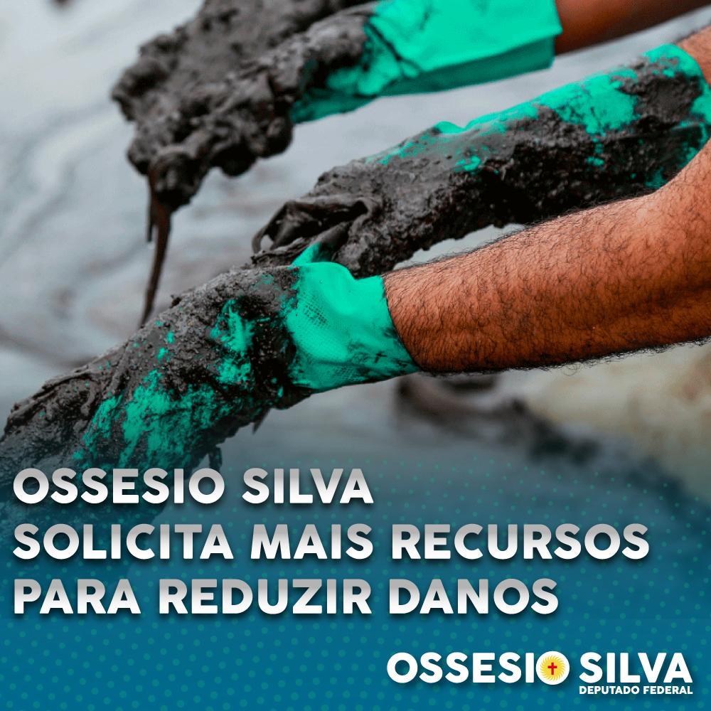 Ossesio Silva solicita disponibilização de recursos para limpeza das praias atingidas por óleo no Nordeste