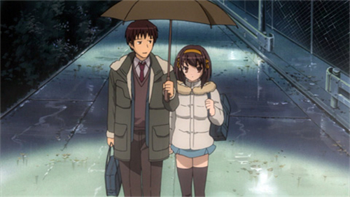 Anime Kiss Scenes - The Melancholy of Haruhi Suzumiya