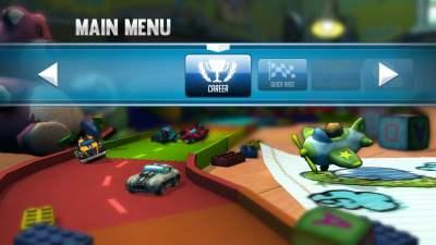 Les choix du menu : 2 options pour jouer !