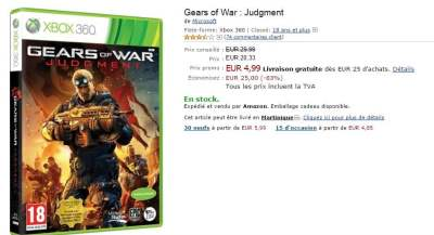 Promo Gears Judgment à 5¤