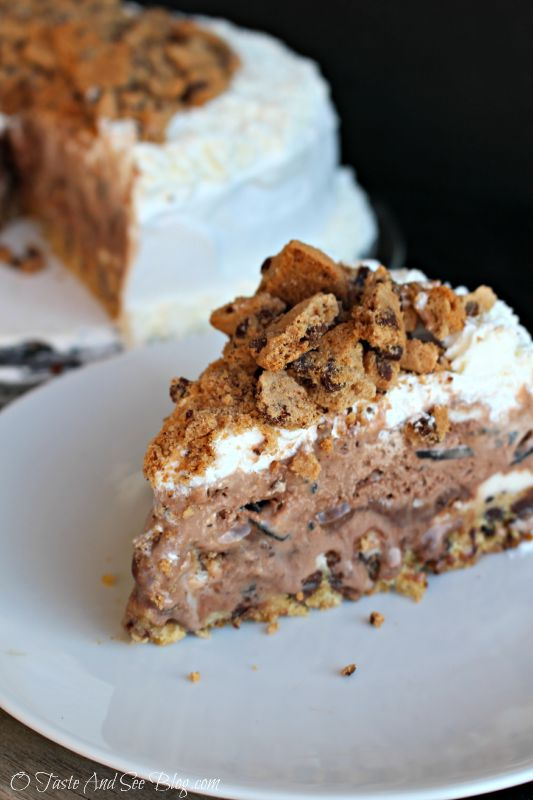 ... and See Chocolate Chip Cookie Dough Ice Cream Cake - O Taste and See