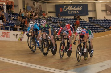 Cristin Walker takes the win in the womens Keirin - courtesy of OTBPhoto.com
