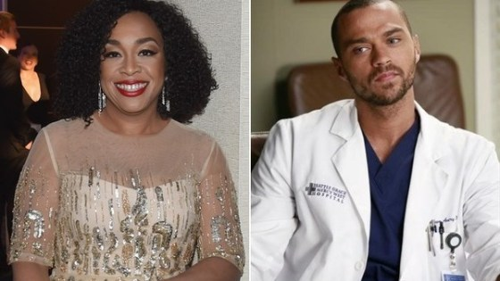 Jesse Williams and Shonda Rhimes Greys Anatomy