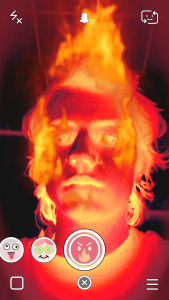 Snapchat Lenses - Head On Fire Snapchat Lens