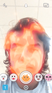 Snapchat Lenses - Head On Fire Put Out With Water Snapchat Lens