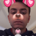 How To Get The Valentines Day Dog Snapchat Lens Filter – Dog With Heart Ears Filter