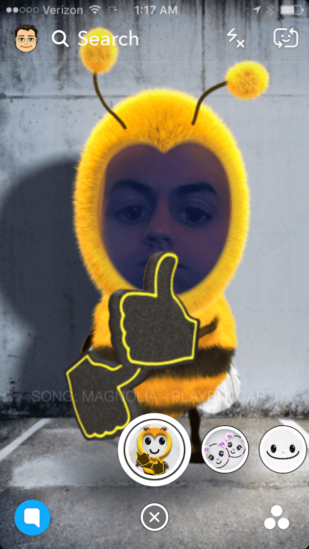 How to Get The Magnolia Milly Rock Bumble Bee Snapchat Lens Filter