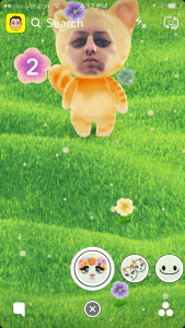 How to Walk Forward in The Walking Cat Flower Game Snapchat Lens