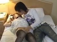 男の娘をナンパしてラブホに連れ込み着衣セックス