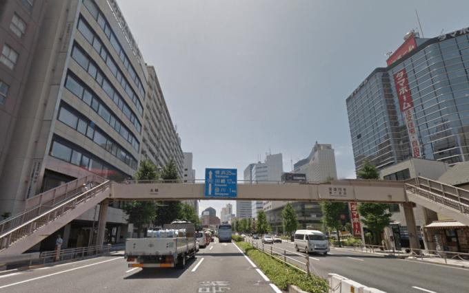 高輪歩道橋付近(Google map)