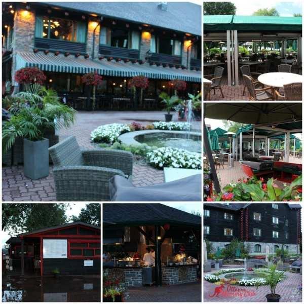 Fairmont Le Château Montebello outdoor restaurant