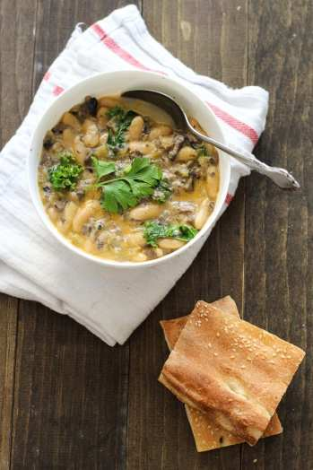 White Bean And Mushroom Soup