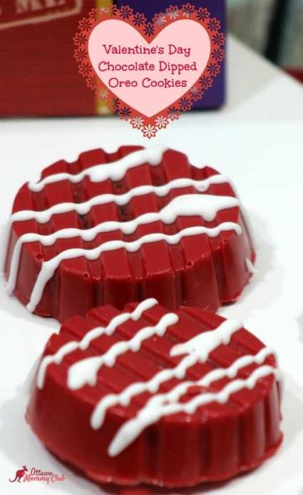 Valentine's Day Chocolate Dipped Oreo cookies