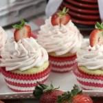 Strawberries and Cream Cupcakes Recipe