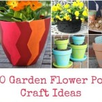 10 Garden Flower Pot Craft Ideas