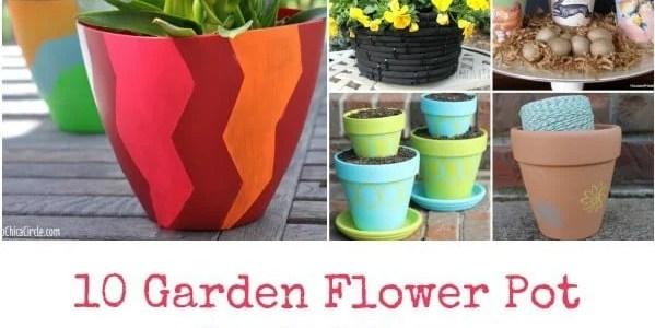 10 Garden Flower Pot Craft Ideas